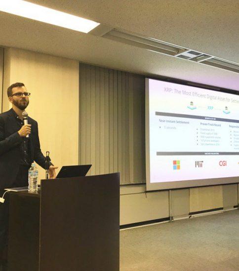 リップル社が4月末に仮想通貨事業者協会と日本の銀行向けに講演を行いました